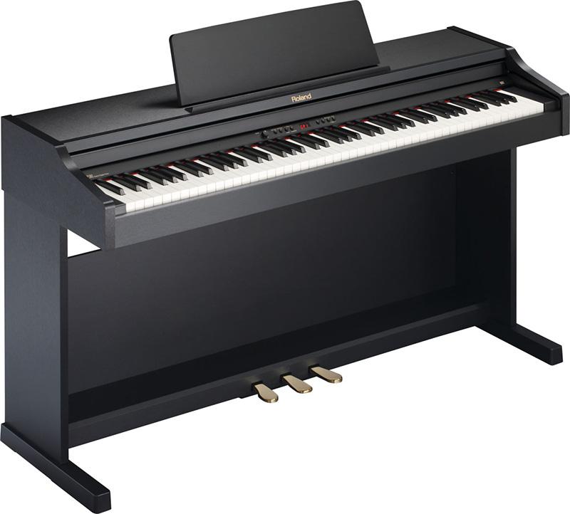 Đàn piano điện Roland RP-301 là dòng đàn piano có khả năng mô phòng âm thanh gần giống với piano cơ.